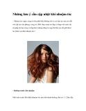Những lưu ý cần cập nhật khi nhuộm tóc