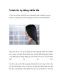 Tránh tóc ép thẳng nhiều lần