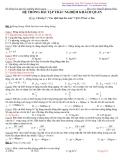 Hệ thống bài tập trắc nghiệm khách quan-Chương: Các định luật bảo toàn