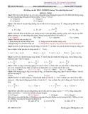 Bài tập trắc nghiệm Lý phần  Đông lượng Trường THPT Ninh Hải
