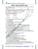 Bài tập trắc nghiệm chương dòng điện không đổi