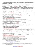 trắc nghiệm vật lý học kì 2