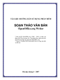 Hướng dẫn sử dụng phần mềm soạn thảo văn bản_OpenOffice.org Writer