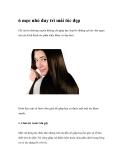 6 mẹo nhỏ duy trì mái tóc đẹp