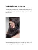 Bí quyết để có mái tóc đen, dài