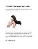 Những lưu ý khi sử dụng lược chải tóc