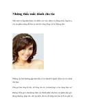 Những thắc mắc dành cho tóc