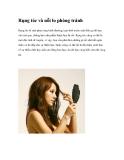 Rụng tóc và nỗi lo phòng tránh