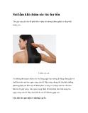 Sai lầm khi chăm sóc tóc hư tổn