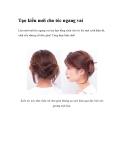 Tạo kiểu mới cho tóc ngang vai