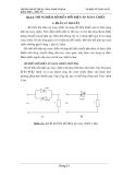 Thí nghiệm biến đổi điện áp xoay chiều một pha
