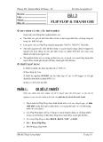 Thí nghiệm Số-Bài 3: Flip Flop và thanh ghi