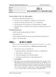 Thí nghiệm Số-Bài 4: Mạch đếm và thanh ghi