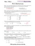 Bài tập Lý 10: Vấn đề 5. Chuyển động ném ngang