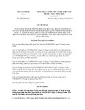 Quyết định số 2604/QĐ-BTC
