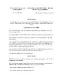 Quyết định số 4601/QĐ-STC