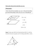 Phương pháp chứng minh hai mặt phẳng song song