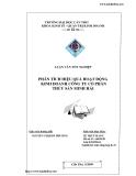 Luận văn tốt nghiệp: Phân tích hiệu quả hoạt động kinh doanh công ty cổ phần thủy sản Minh Hải