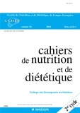 Cahiers de nutrition diététique - part 1