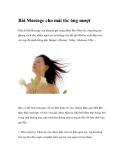 Bài Massage cho mái tóc óng mượt