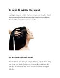 Bí quyết để mái tóc bóng mượt
