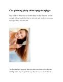 Các phương pháp chữa rụng tóc tại gia