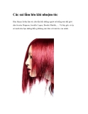 Các sai lầm lớn khi nhuộm tóc