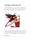 Công dụng của Dấm đối với tóc
