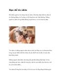 Hạn chế tóc nhờn