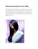 Hiểm hoạ khó lường từ ép tóc thẳng