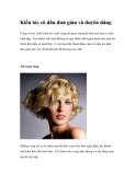 Kiểu tóc cô dâu đơn giản và duyên dáng