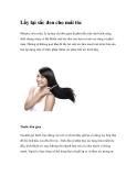 Lấy lại sắc đen cho mái tóc