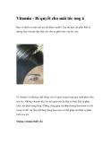 Vitamin - Bí quyết cho mái tóc óng ả