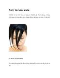Xử lý tóc bóng nhờn