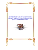 PHƯƠNG PHÁP GIẢI BÀI TẬP DI TRUYỀN LIÊN KẾT VỚI GIỚI TÍNH  VÀ TÍCH HỢP CÁC QUY LUẬT DI TRUYỀN KHÁC