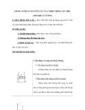 Tiết 90: ÁP DỤNG NGUYÊN LÝ I CỦA NHIỆT ĐỘNG LỰC HỌC CHO KHÍ LÝ TƯỞNG