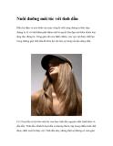 Nuôi dưỡng mái tóc với tinh dầu