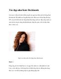 Tóc đẹp như Kate Beckinsale