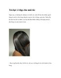 Trả lại vẻ đẹp cho mái tóc