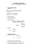 Hệ thống công thức phục vụ ôn tập phần tích phân
