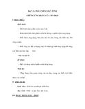 Bài 7, 8: PHẦN MỀM MÁY TÍNH NHỮNG ỨNG DỤNG CỦA TIN HỌC