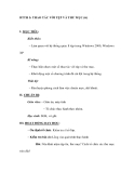 BTTH 5: THAO TÁC VỚI TỆP VÀ THƯ MỤC (tt)