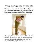 Các phương pháp trị béo phì