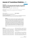 "báo cáo hóa học:"" Validation of a flow cytometry based chemokine internalization assay for use in evaluating the pharmacodynamic response to a receptor antagonist"""
