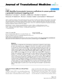 "báo cáo hóa học:""  CRP identifies homeostatic immune oscillations in cancer patients: a potential treatment targeting tool?"""