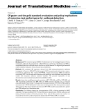 """báo cáo hóa học:"""" Of gastro and the gold standard: evaluation and policy implications of norovirus test performance for outbreak detection"""""""