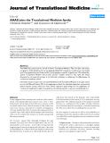 "báo cáo hóa học:""  AAAS joins the Translational Medicine family"""