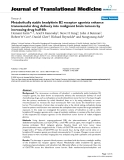 "báo cáo hóa học:""  Metabolically stable bradykinin B2 receptor agonists enhance transvascular drug delivery into malignant brain tumors by increasing drug half-life"""