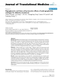 """báo cáo hóa học:""""  Hypoglycemic and beta cell protective effects of andrographolide analogue for diabetes treatment"""""""