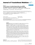 """báo cáo hóa học:""""  Clinical values of multiple Epstein-Barr virus (EBV) serological biomarkers detected by xMAP technology"""""""